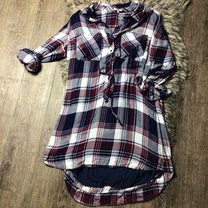 Laju Size XXL Rayon plaid dress